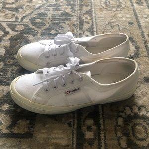 Superga 2750 Cotu Classic White Canvas Sneakers